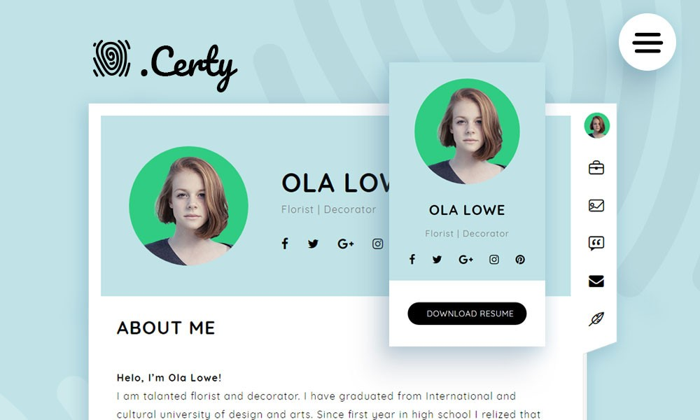 Certy - Wordpress Resume, CV Theme