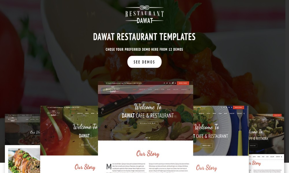 Dawat - Restaurant and Cafe Template