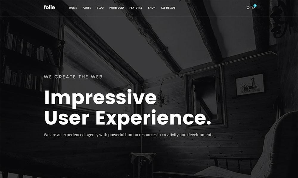 Folie WordPress Theme with Visual Builder