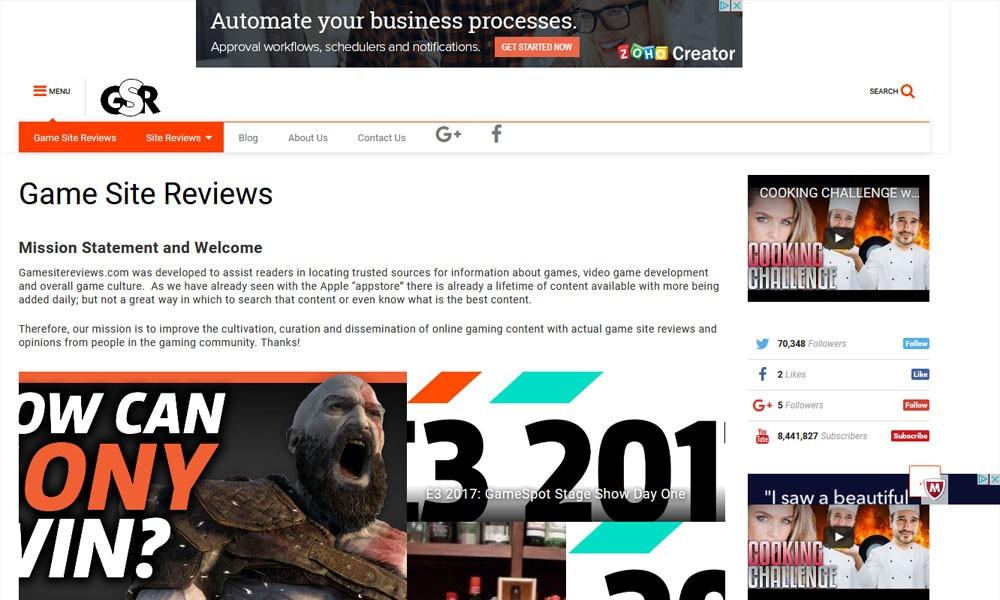 Game Site Reviews