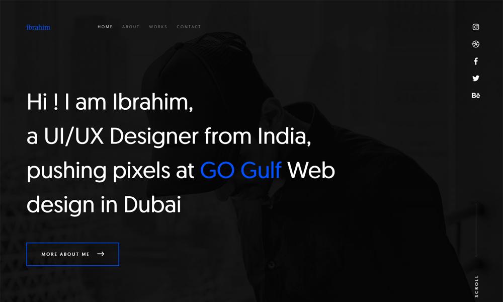 Ibrahim - Personal Portfolio Site
