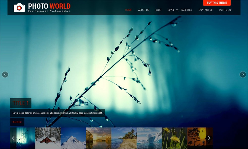 Photo World - Responsive Free WordPress Themes