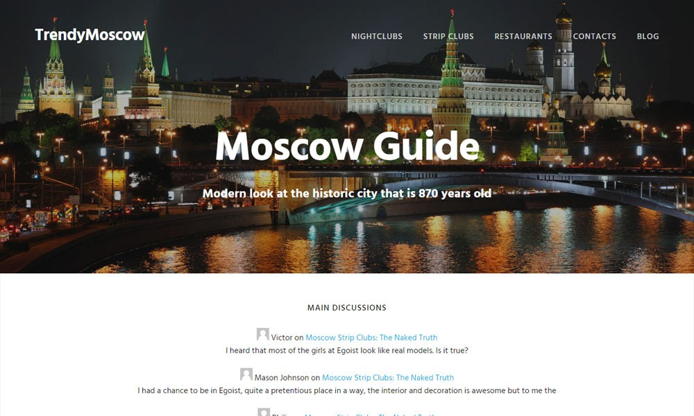 Trendy Moscow