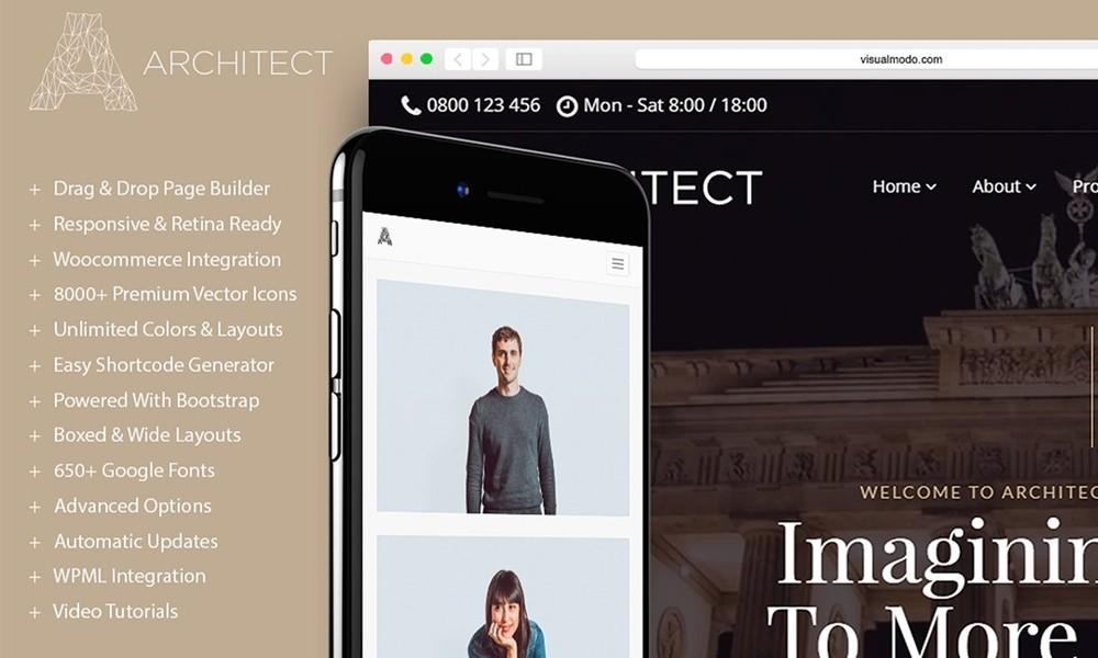 Architect WordPress Theme - Interior Design & Architecture Responsive Template