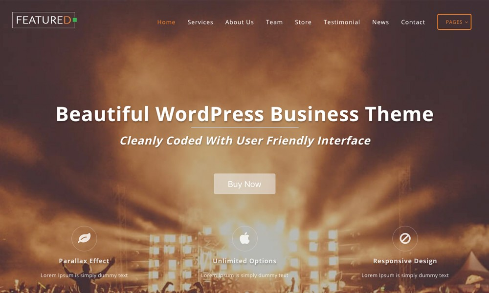Featuredlite – Business WordPress Theme