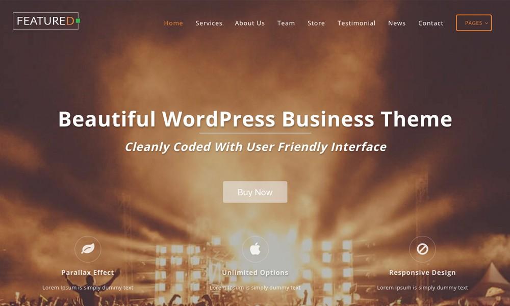 Featuredlite – Business WordPress Theme