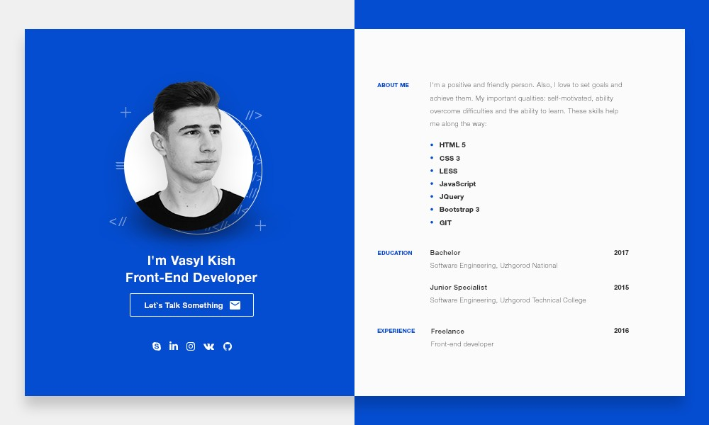 Kish Personal Site