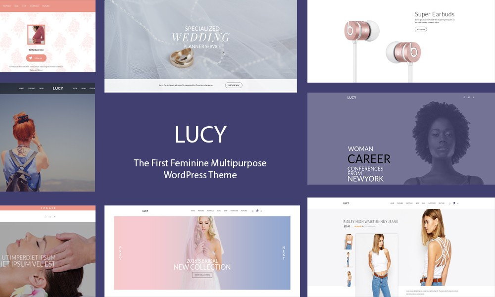 Lucy - Feminine Multipurpose WordPress Theme