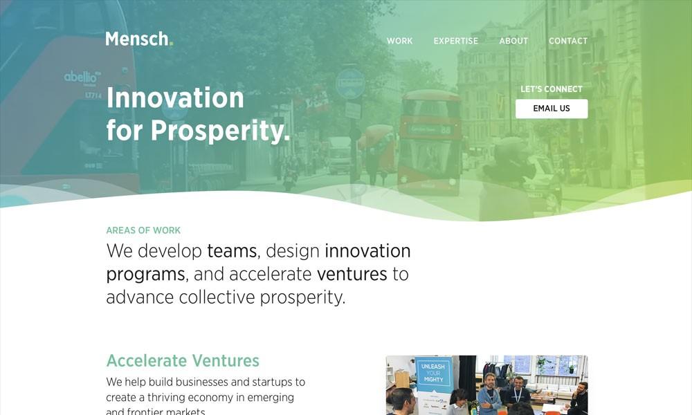 Mensch — Innovation for Prosperity