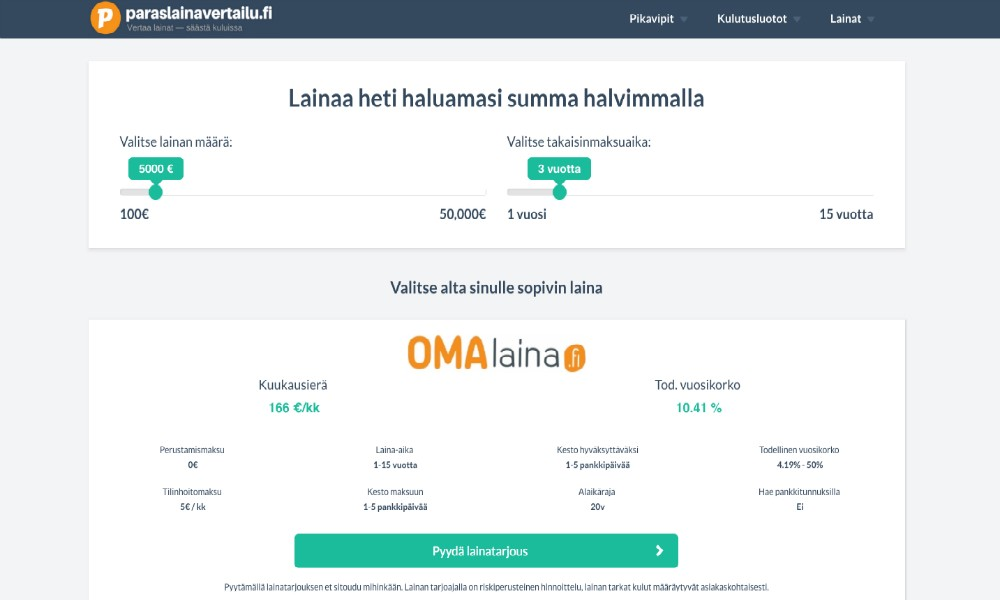 paraslainavertailu.fi