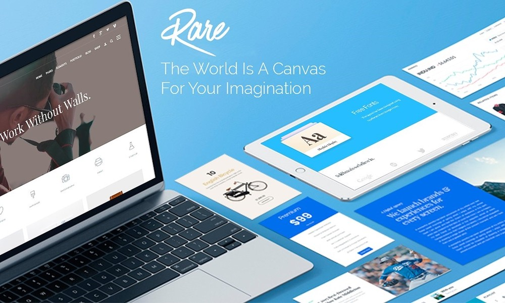 Rare Creative Responsive WordPress Theme