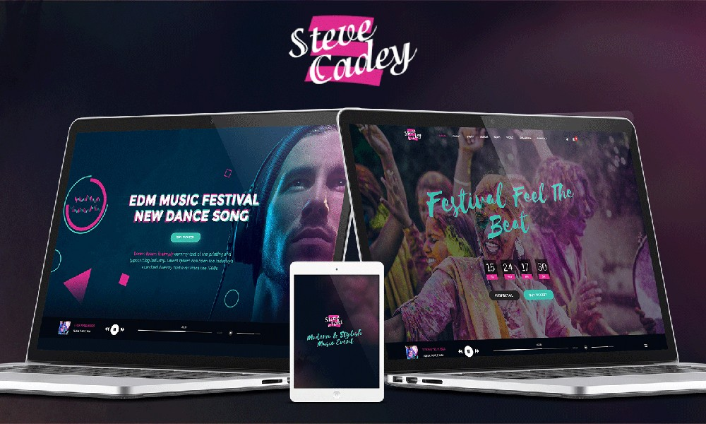 STEVE CADEY - WordPress Music Theme For Musicians, DJs, Bands & Solo Artists
