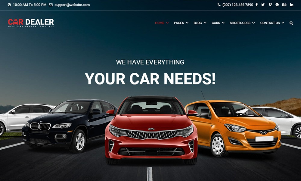 Car Dealer Automotive Responsive WordPress Theme