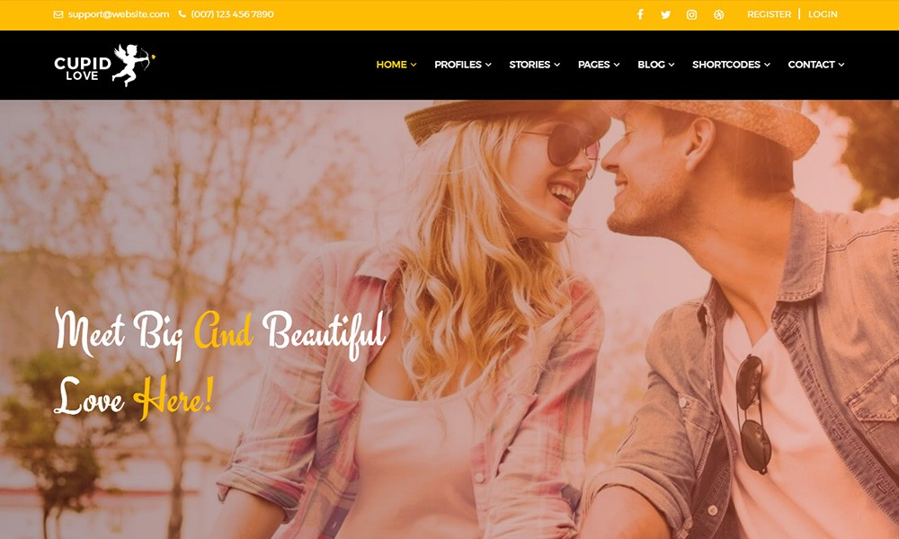 CUPID LOVE Dating Website HTML5 Template