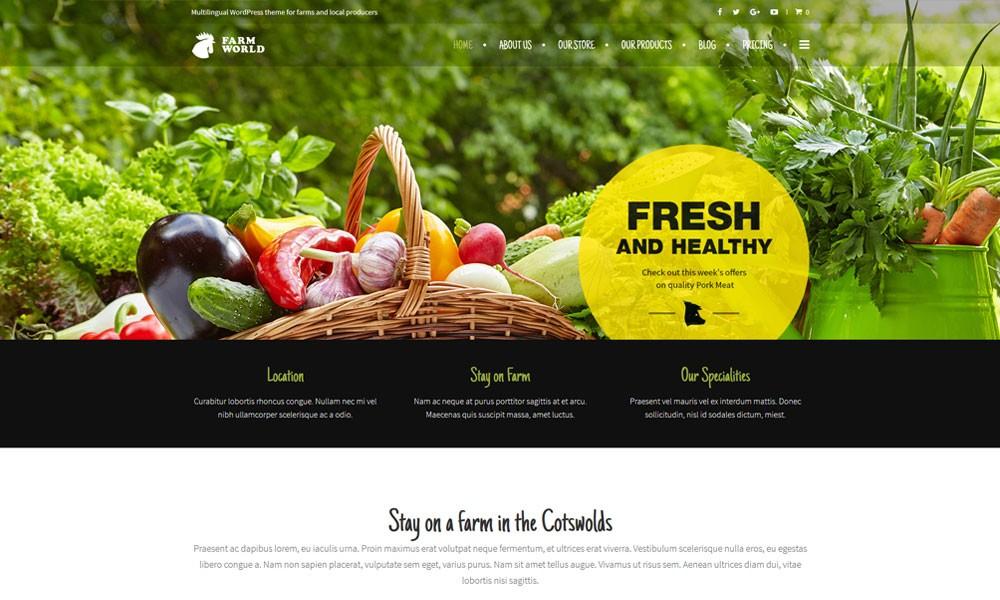 FarmWorld WordPress Theme