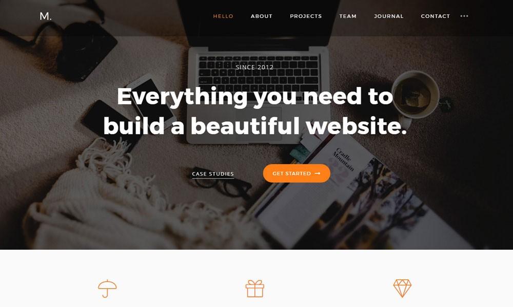 Mora - Portfolio Wp Theme for Freelancers, Startups and Agencies
