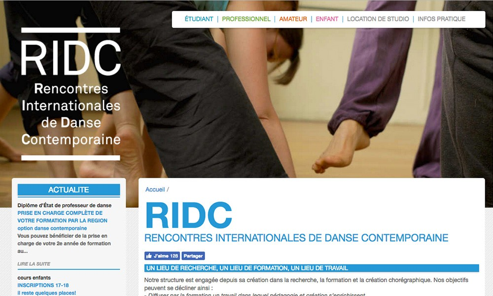 RIDC - Contemporary danse school in Paris