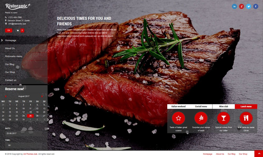 Ristorante+ WordPress Theme