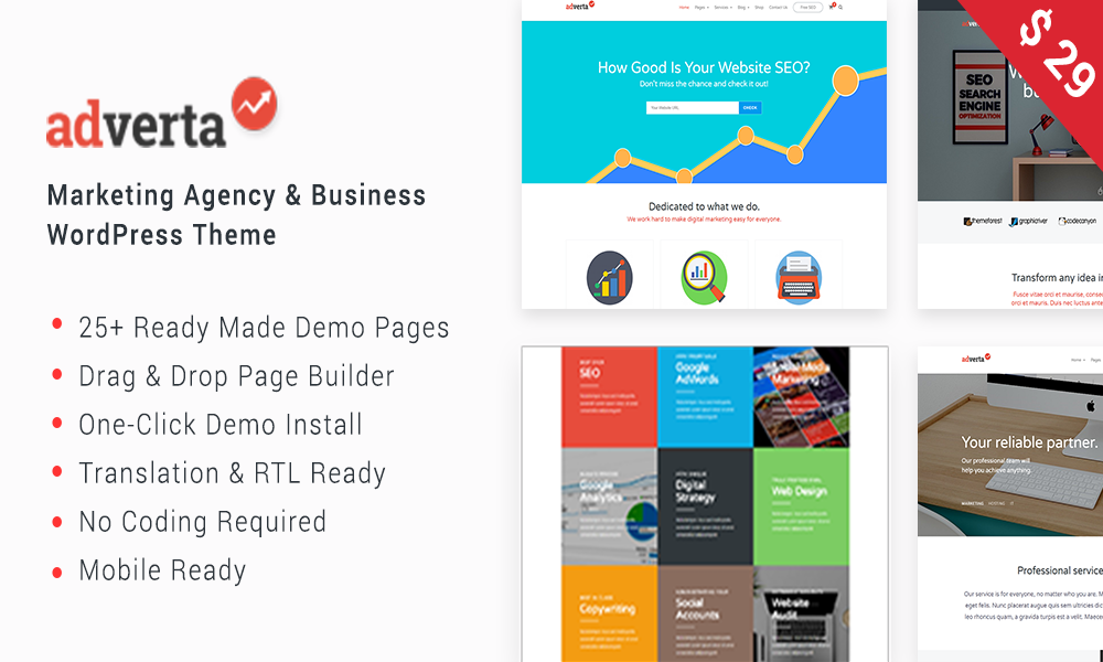 Adverta – Marketing Agency & Business WordPress Theme