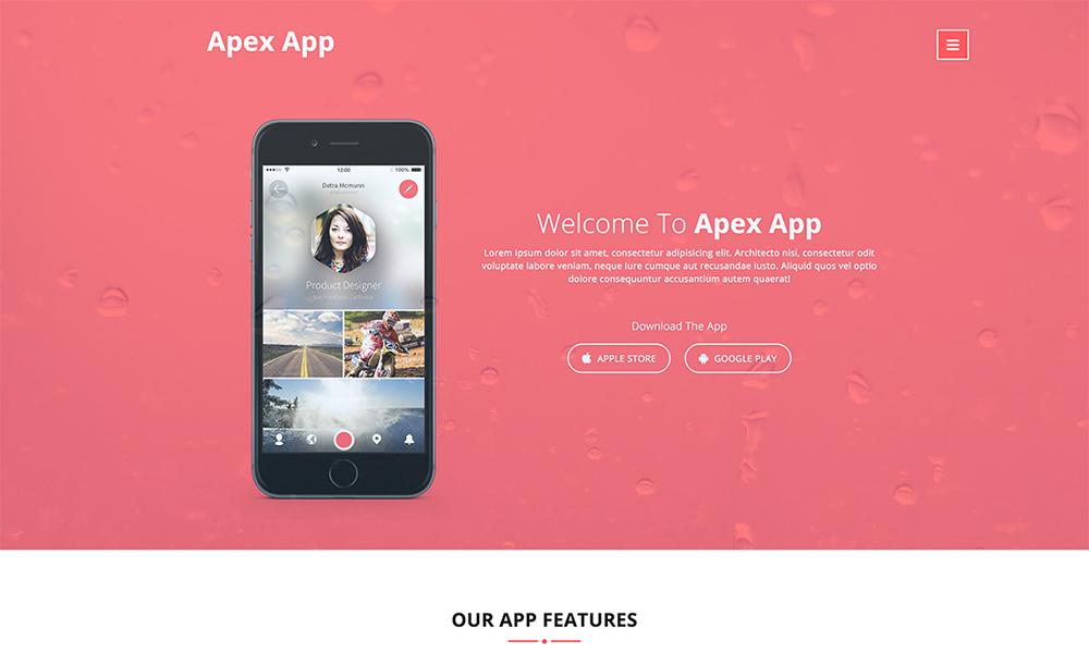 Apex App - App Landing Page Template
