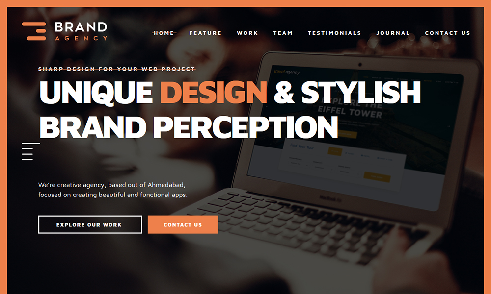 Brand Agency - One Page HTML Bootstrap Template