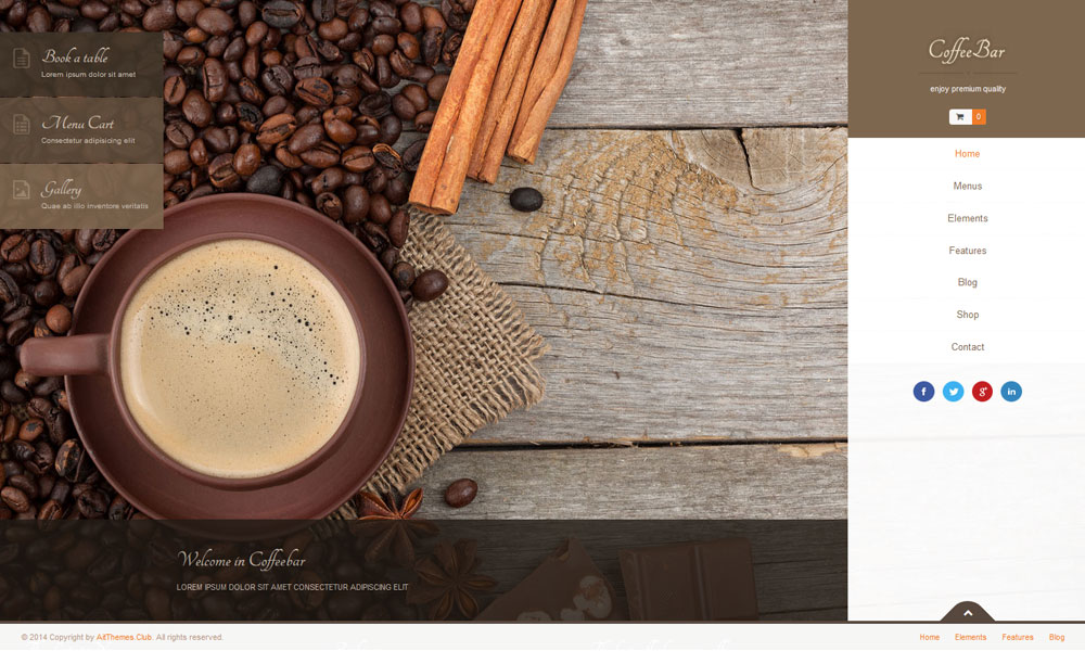 Coffeebar WordPress Theme