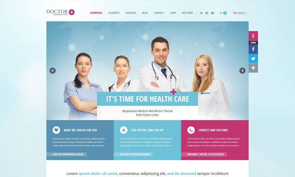 Doctor+ WordPress Theme
