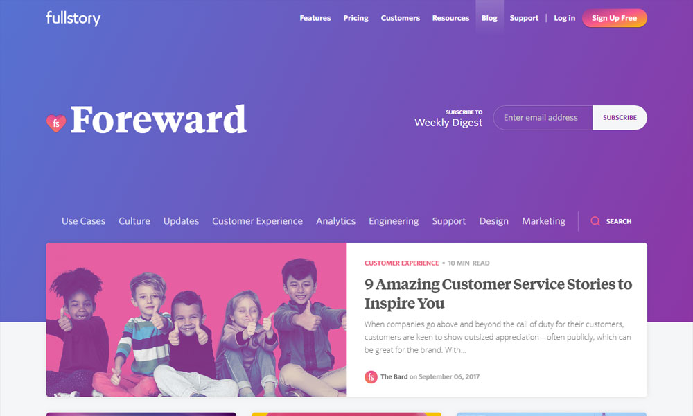 Foreward - Blog by FullStory