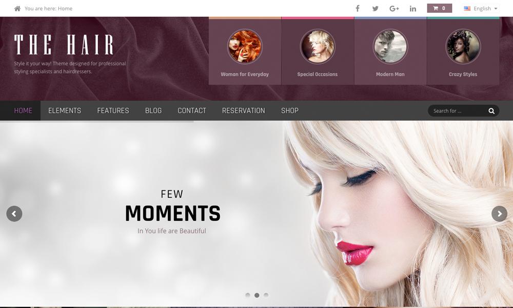 Hair WordPress Theme