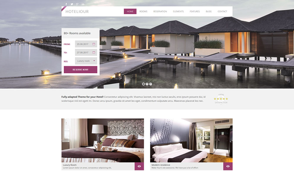 Hoteliour WordPress Theme