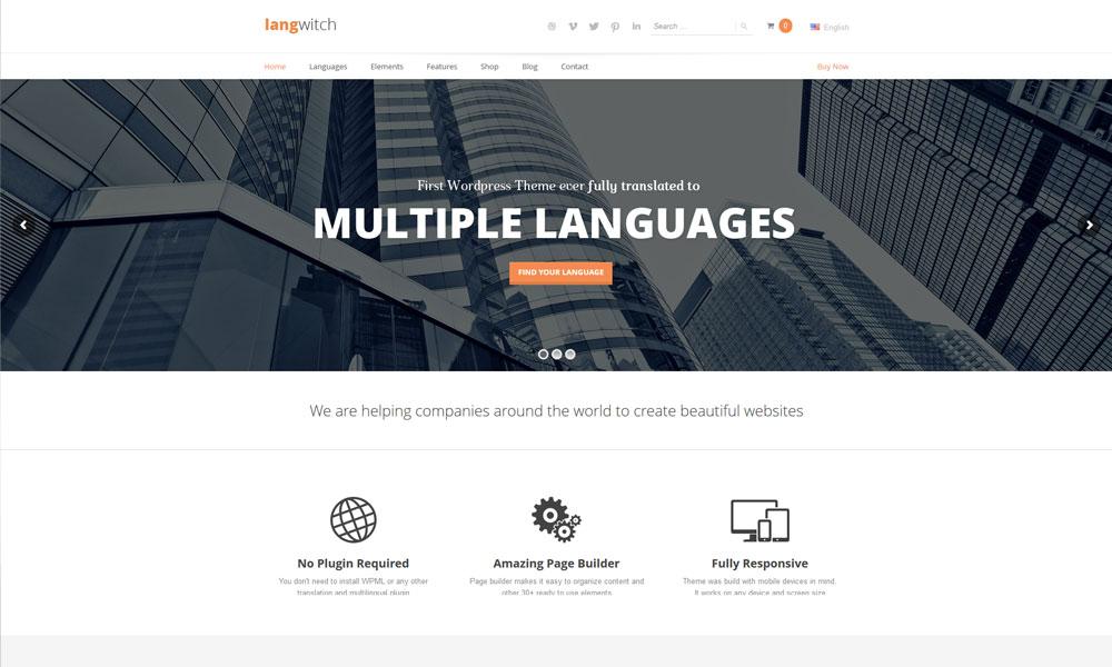Langwitch WordPress Theme
