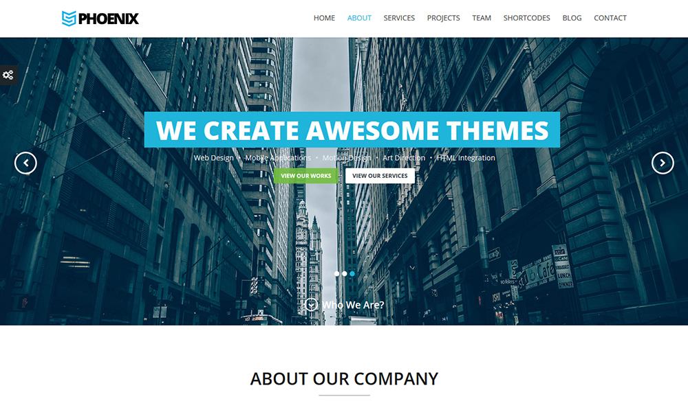 Phoenix - Responsive One Page Parallax WordPress Theme