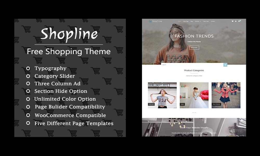Shopline - free shopping theme