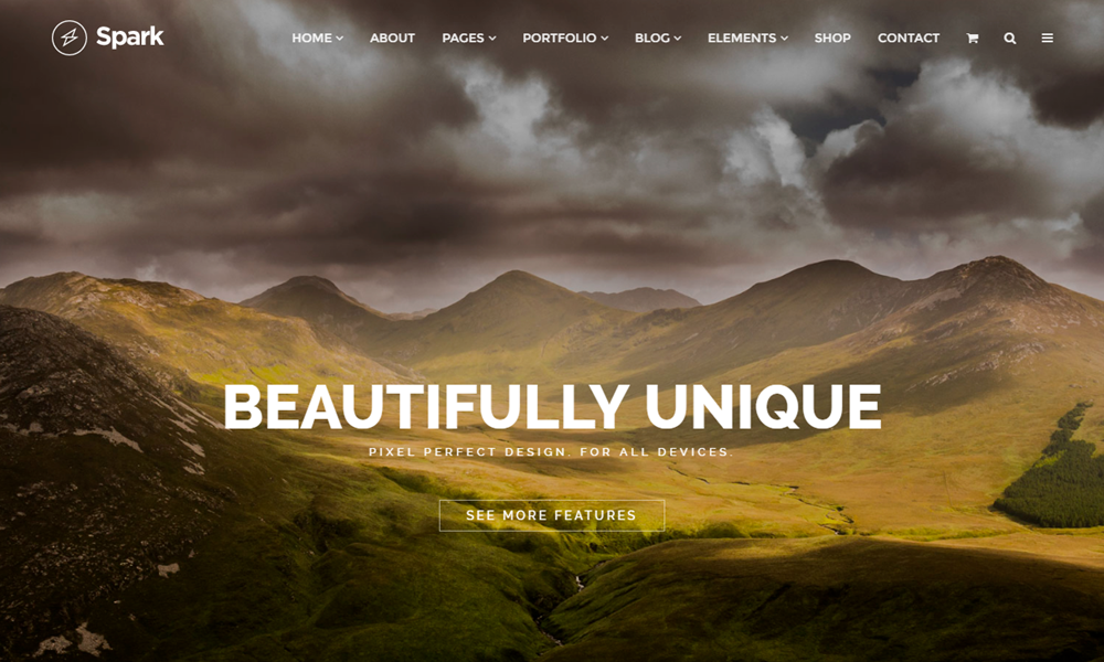 Spark - Drag & Drop Responsive WordPress Theme