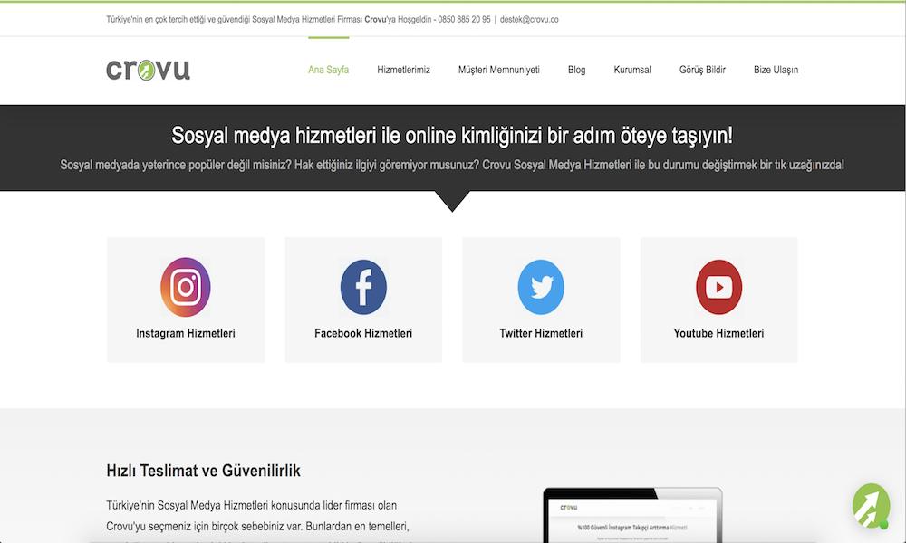 CROVU - Sosyal Medya Hizmetleri