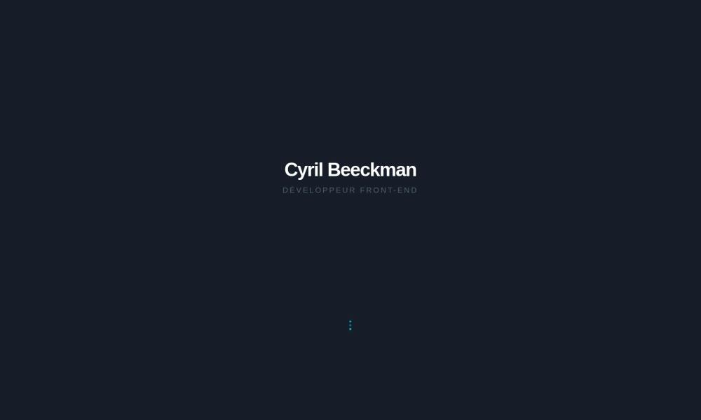 Cyril Beeckman Portfolio