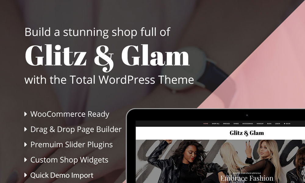 Glitz & Glam Total Theme eCommerce Shop