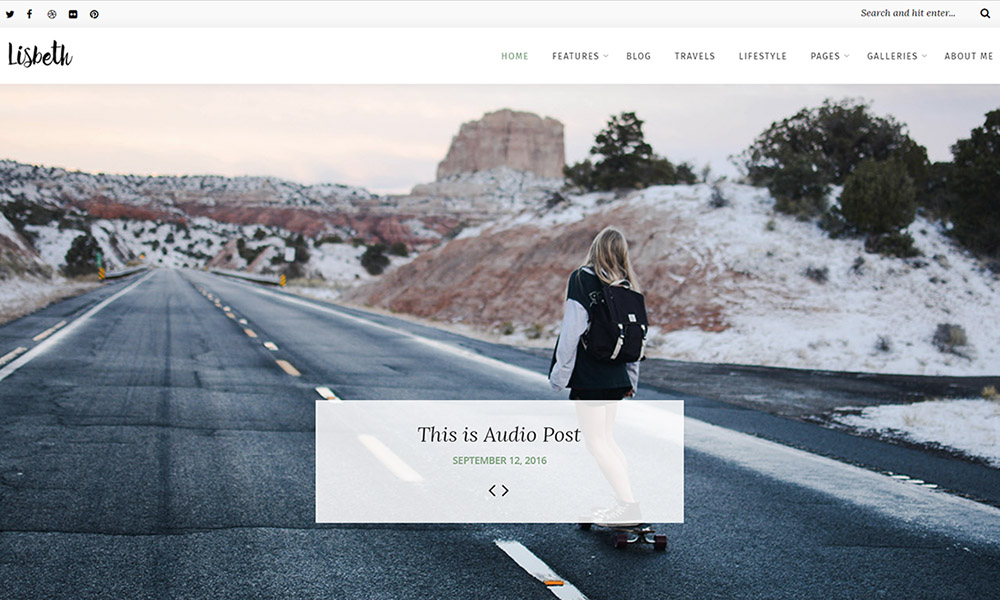 Lisbeth - A Lifestyle Responsive WordPress Blog Theme