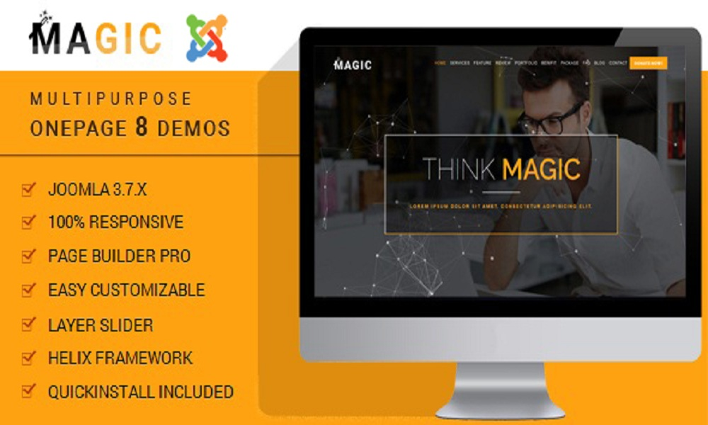 Magic - Multipurpose Onepage Joomla Theme With Page Builder