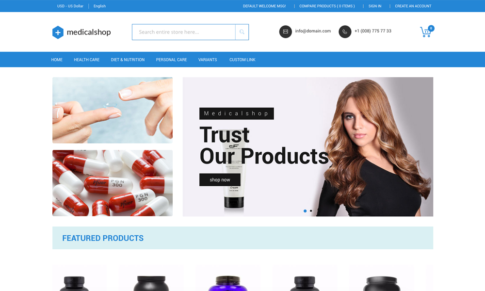 Medical Shop Pharmacy and Medical Magento Responsive Theme by Zozothemes