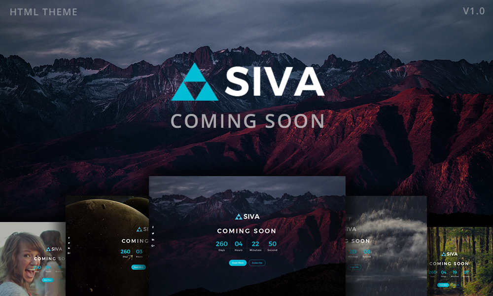 SIVA - Coming Soon Html Responsive Template