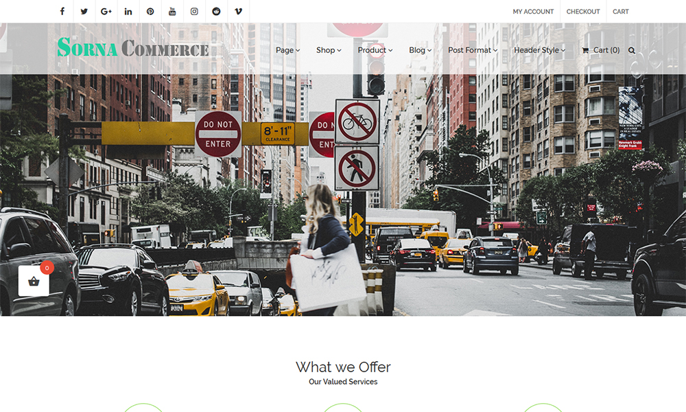 SornaCommerce WordPress Theme