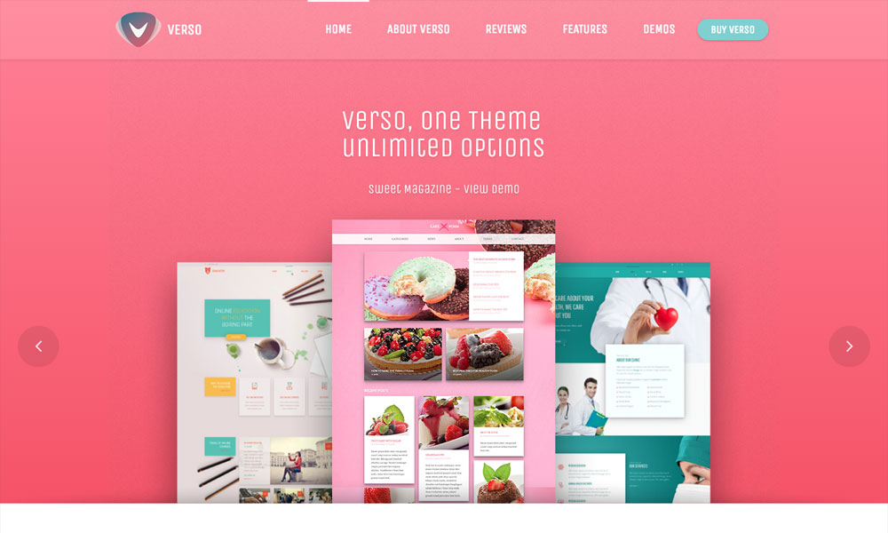 Verso - Responsive Multi Purpose WordPress Theme