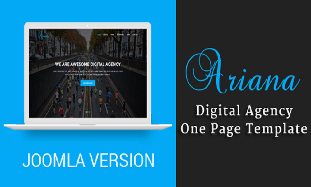 Ariana - Digital Agency One Page Joomla Theme