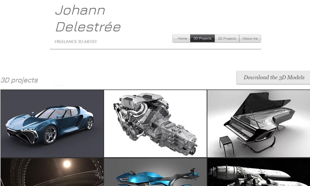 Johann Delestree Portfolio : 3D Artist