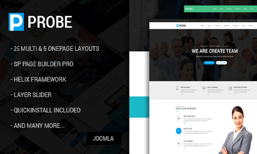 Probe - Responsive Multi-Purpose Joomla Theme With Page Builder