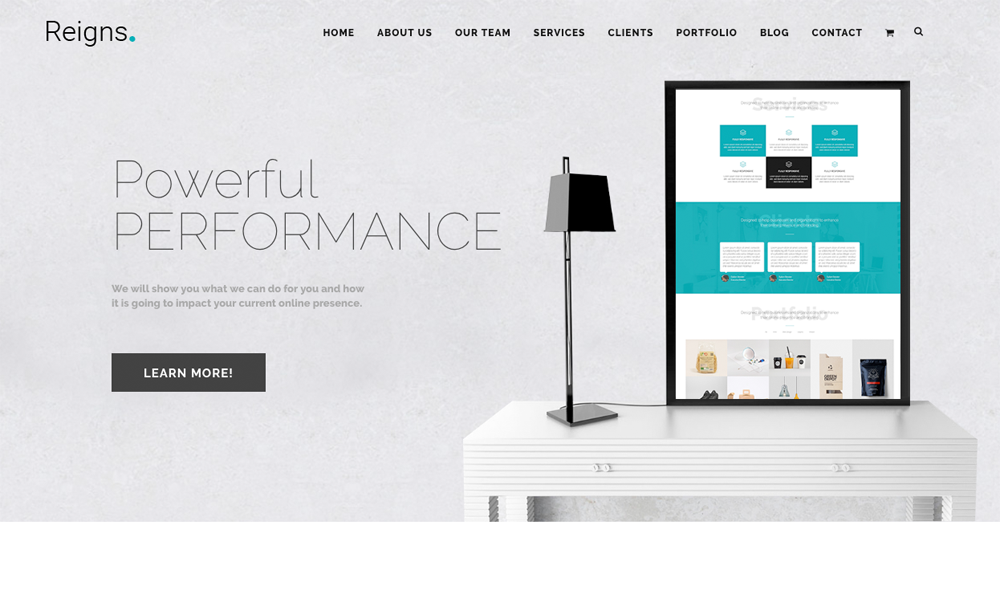 Reigns - Professional One Page Corporate Joomla Theme