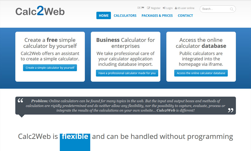 Web Calculation Tools