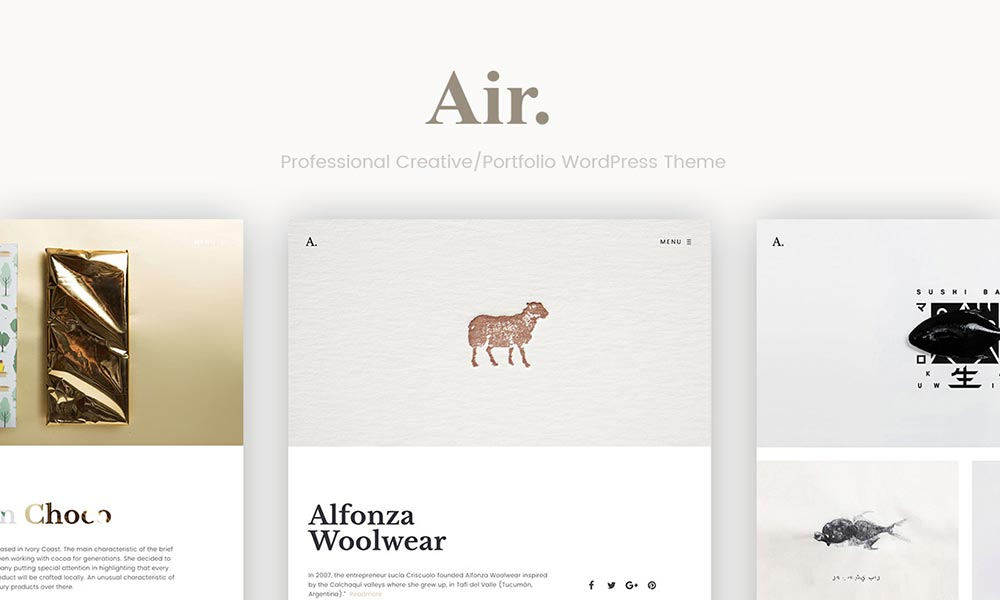 Portfolio Air - WordPress Theme