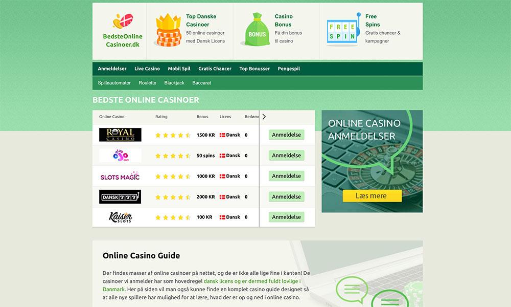 Bedste online casino
